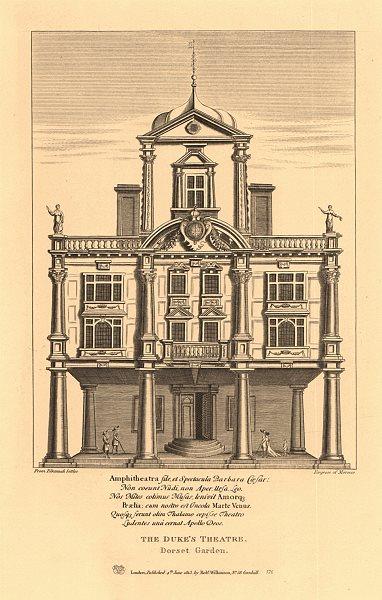 Associate Product DUKE OF YORK'S THEATRE, DORSET GARDEN. Whitefriars, London. WILKINSON 1834