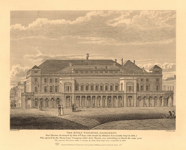 Associate Product KING'S THEATRE, HAYMARKET (now HER MAJESTY'S THEATRE) in 1819. London 1834