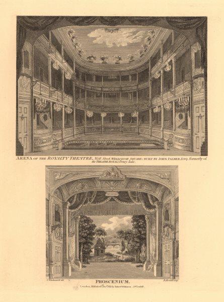 Associate Product ROYALTY THEATRE, WELLCLOSE SQUARE. Whitechapel, London. Interior Proscenium 1834