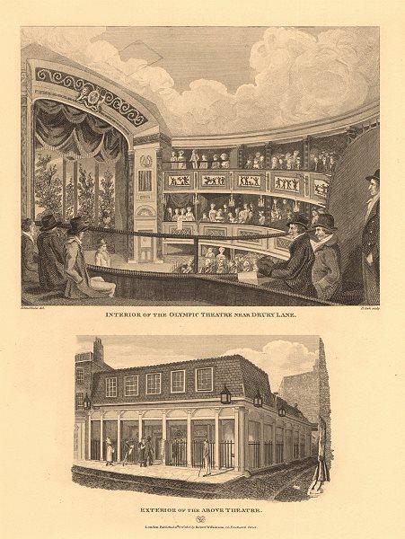 Associate Product OLYMPIC THEATRE, DRURY LANE (now Aldwych). Demolished 1904. WILKINSON 1834