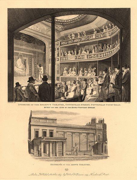 Associate Product REGENCY THEATRE (later the SCALA), Tottenham/Charlotte Street, London 1834