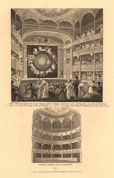 Associate Product LYCEUM THEATRE, STRAND (aka ENGLISH OPERA HOUSE). Interior boxes gallery 1834