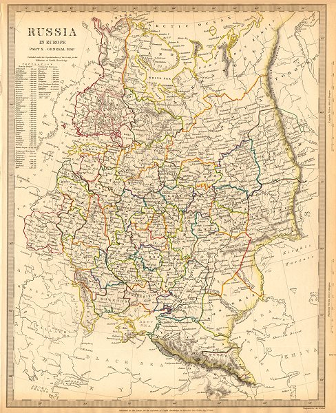Map Of Georgia Eastern Europe.Details About Russia Eastern Europe Ukraine Belarus Baltics Finland Georgia Sduk 1844 Map