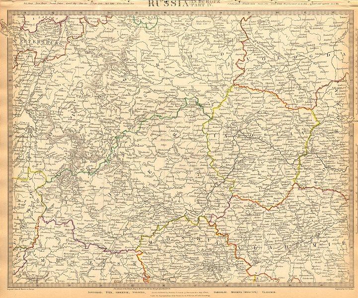 Associate Product RUSSIA.Novgorod Tver Smolensk Vologda Iarolslav Moscow Vladimir.SDUK 1844 map