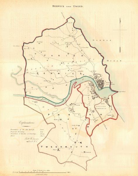 Associate Product BERWICK-UPON-TWEED borough/town plan. REFORM ACT. Tweedmouth. DAWSON 1832 map
