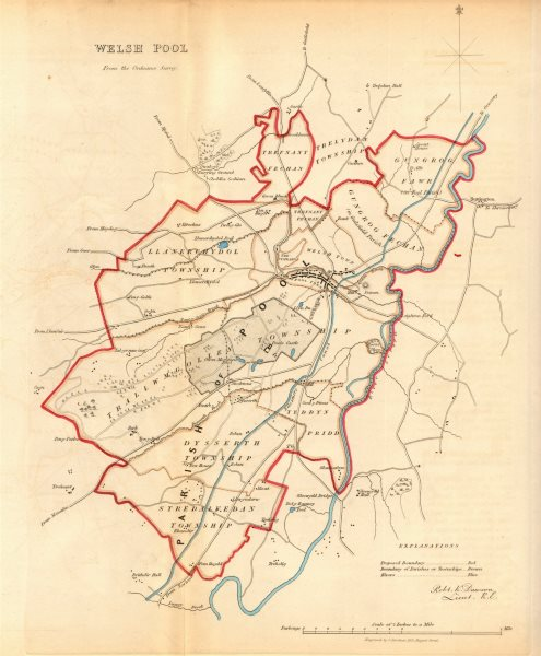 Associate Product WELSHPOOL/Y TRALLWNG borough/town plan. REFORM ACT. Wales. DAWSON 1832 old map
