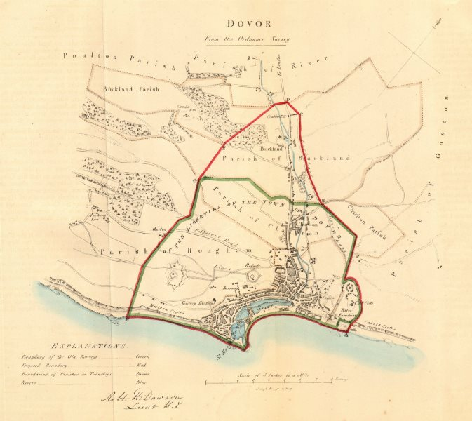Associate Product DOVER borough/town plan for the REFORM ACT. Kent. DAWSON 1832 old antique map