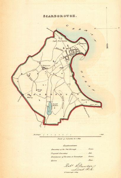 Associate Product SCARBOROUGH borough/town plan. REFORM ACT. Falsgrave. Yorkshire. DAWSON 1832 map