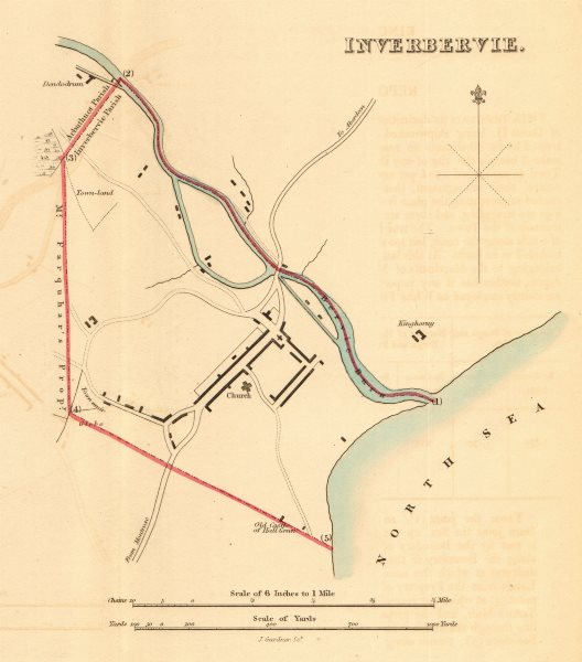Associate Product INVERBERVIE borough/town plan for the REFORM ACT. Scotland 1832 old map