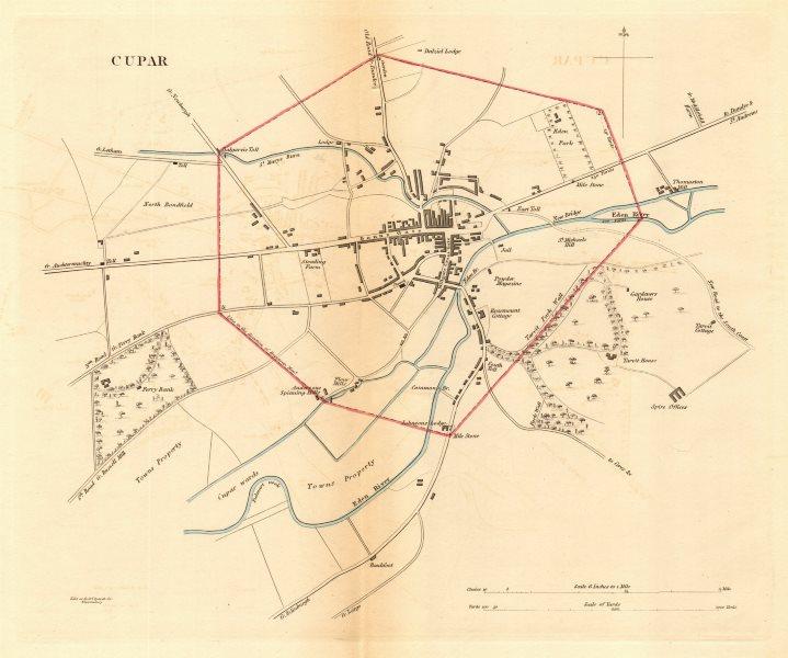 Associate Product CUPAR borough/town plan for the REFORM ACT. Scotland 1832 old antique map