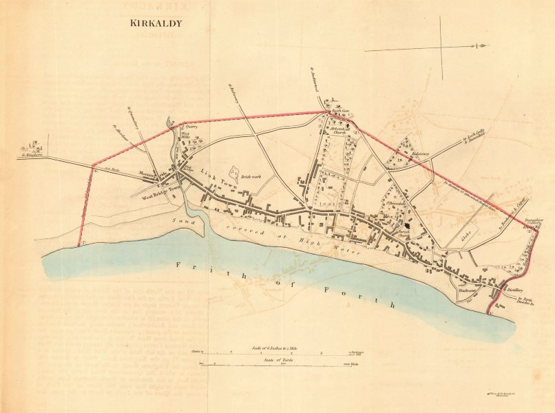 Associate Product KIRKALDY borough/town plan for the REFORM ACT. Scotland 1832 old antique map