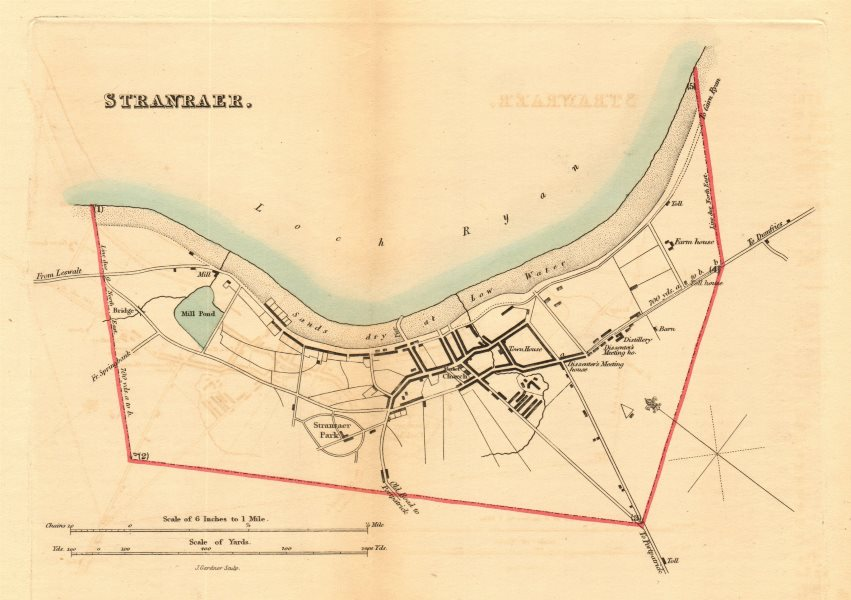 Associate Product STRANRAER borough/town plan for the REFORM ACT. Scotland 1832 old antique map