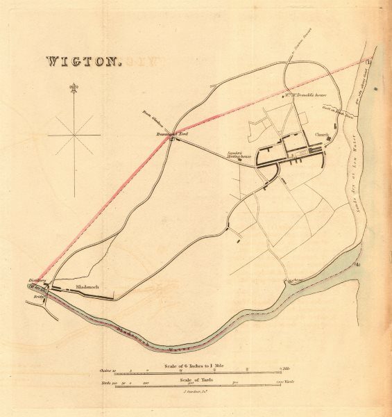 Associate Product WIGTOWN borough/town plan for the REFORM ACT. Bladenoch. Scotland 1832 old map