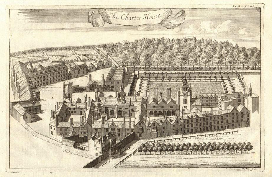 Associate Product 'Charter House'. The Charterhouse, Smithfield, London. STOW/STRYPE 1720 print