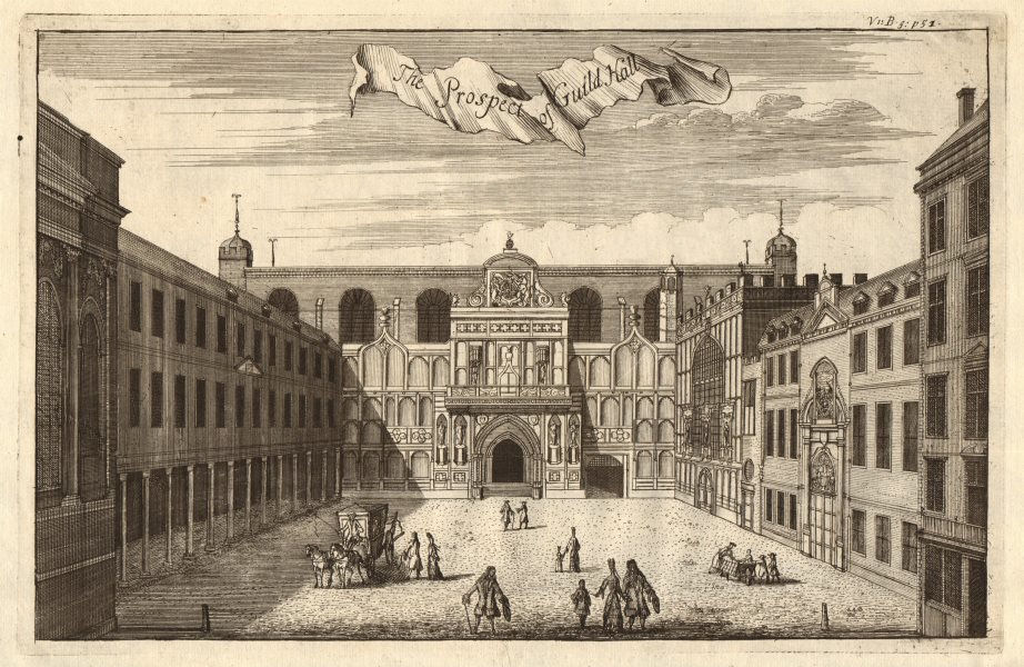 Associate Product 'The Prospect of Guildhall'. City of London. STOW/STRYPE 1720 old print