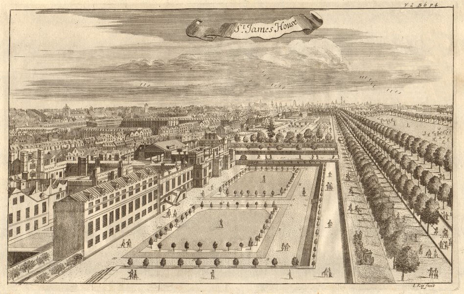 Associate Product 'St James's House' (St James's Palace) & The Mall, London. STOW/STRYPE 1720