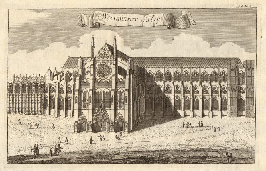 Associate Product 'Westminster Abbey', London. STOW/STRYPE 1720 old antique print picture