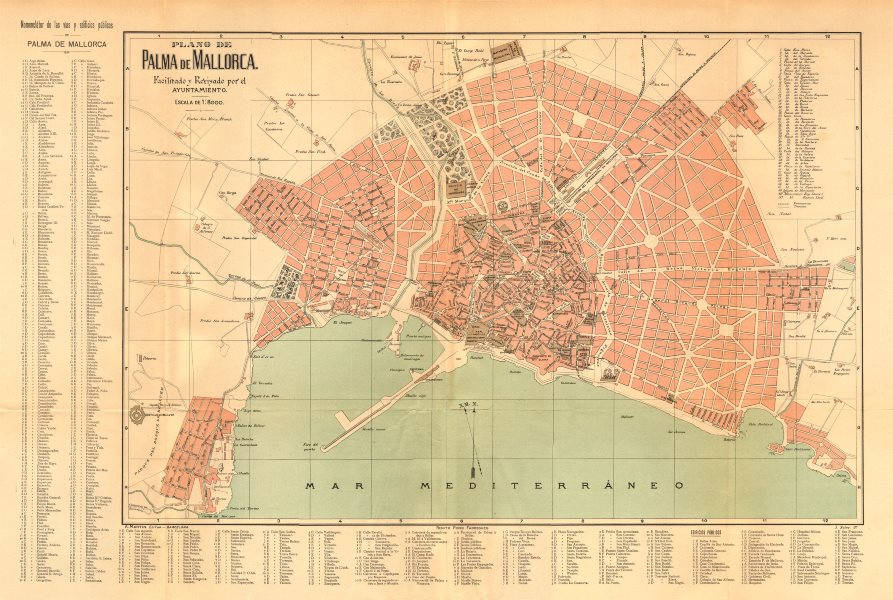 Associate Product PALMA DE MALLORCA. Plano antiguo cuidad Antique town/city plan. MARTIN c1911 map