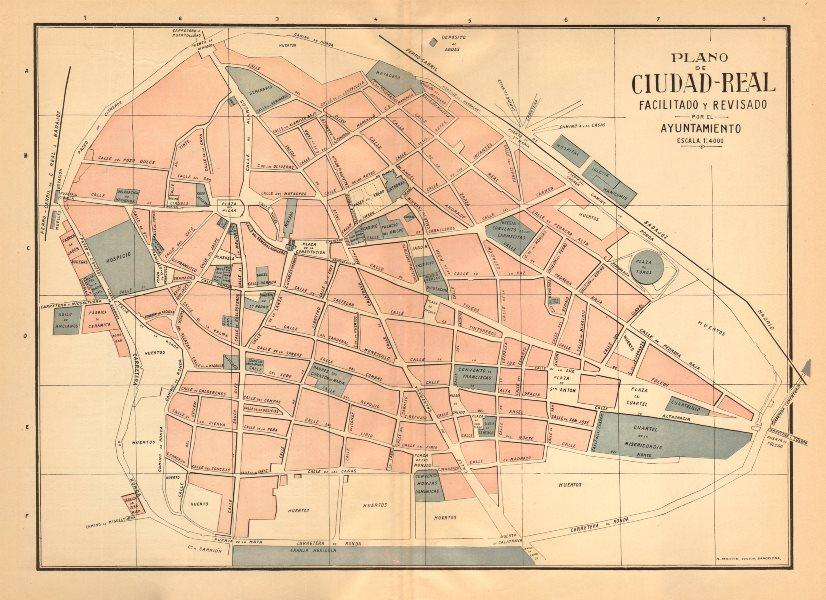 Associate Product CIUDAD REAL. Plano antiguo de la cuidad Antique town/city plan. MARTIN c1911 map