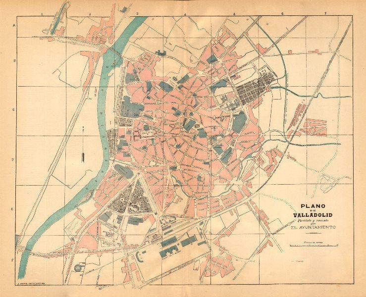 Associate Product VALLADOLID. Plano antiguo de la cuidad. Antique town/city plan. MARTIN c1911 map