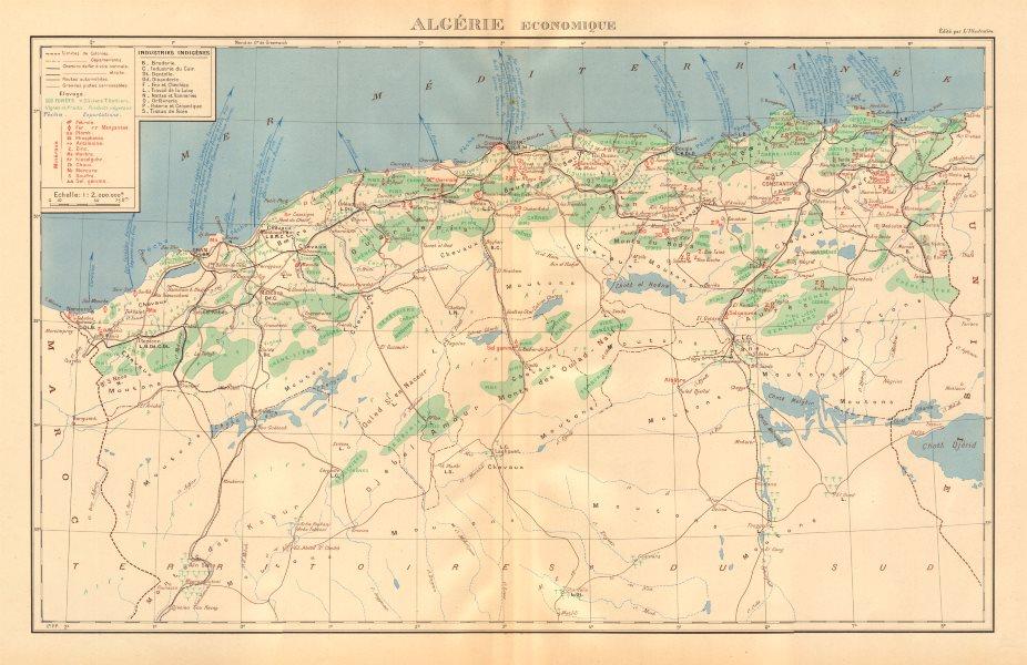 Associate Product FRENCH ALGERIA ECONOMIC & RESOURCES. Algerie - Economique. Minerals 1938 map
