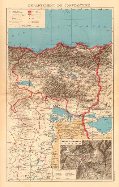 Associate Product FRENCH ALGERIA. Departement de Constantine. Inset environs & city plan 1938 map