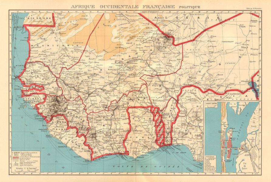 Associate Product FRENCH WEST AFRICA. Afrique Occidentale Française. Saint-Louis, Senegal 1938 map