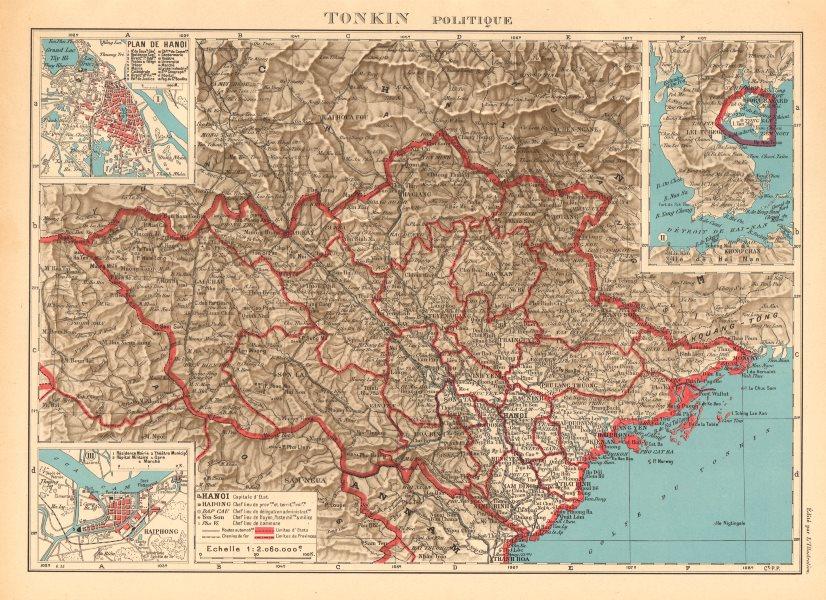 Haiphong Vietnam Map.Tonkin French Indochina Indochine Vietnam Hanoi Haiphong City