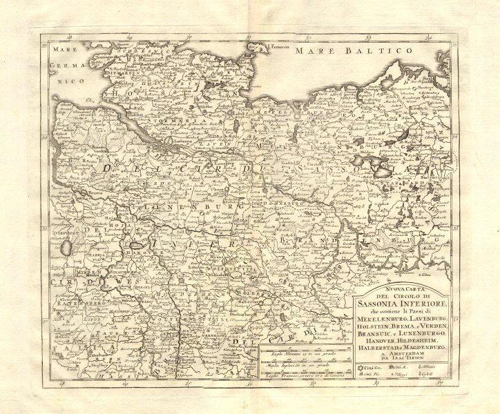 Associate Product 'Nuova Carta del Circolo di Sassonia Inferiore..', by Isaak TIRION 1740 map