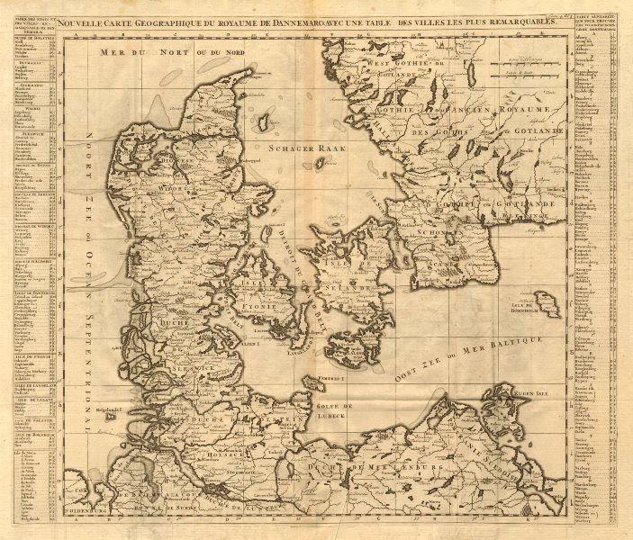 Associate Product 'Nouvelle Carte Geographique du Royaume de Dannemarck'. CHATELAINE 1719 map