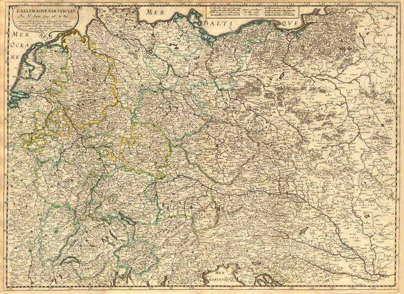 Associate Product 'L'Allemagne par cercles' by Nicholas SANSON. Central Europe 1645 old map