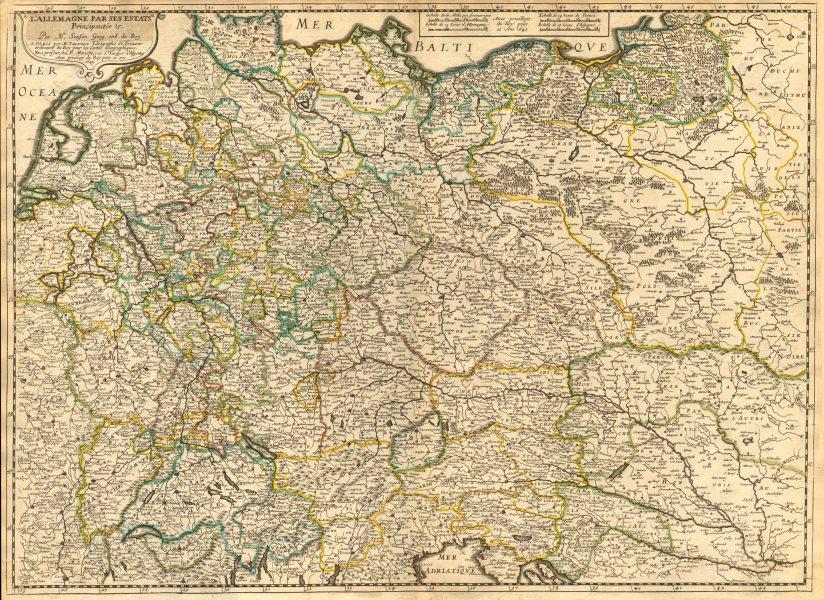 Associate Product 'L'Allemagne par ses Estats, Principautés &.' by Nicholas SANSON 1645 old map