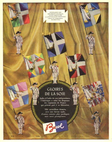 Gloires de la Soie. BUCOL. Buchet fils. Charles Colcombet. Fashion advert 1947