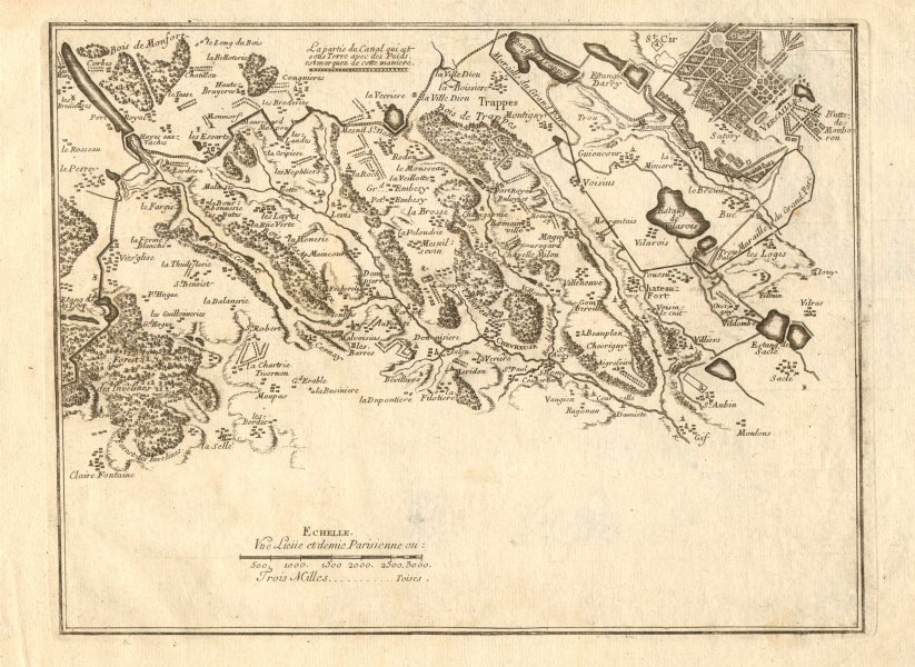 Associate Product Canal de l'Eure 3. Rambouillet-Trappes-Versailles. Chevreuse. DE FER 1705 map