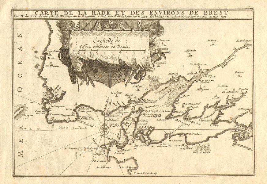 Associate Product 'Carte de la rade et des environs de Brest'. Roadstead Finistère DE FER 1705 map