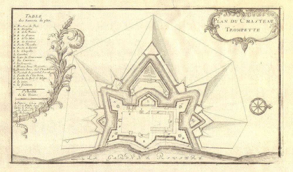 Associate Product 'Plan du Chasteau Trompette'. Château Trompette plan. Gironde. DE FER 1705 map