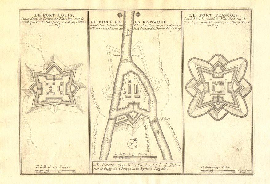 Associate Product Forts Louis Kenoque Knokke St-François Vallières Dunkirk Diksmuide. FER 1705 map