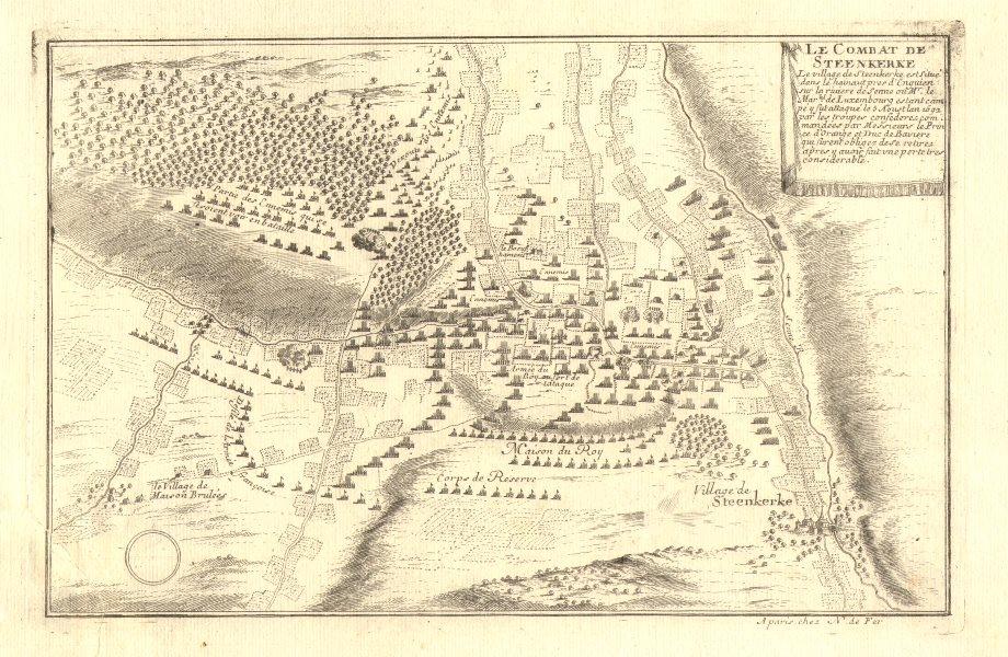 Associate Product 'Le combat de Steenkerke'. Battle of Steenkerque1692. Belgium. DE FER 1705 map
