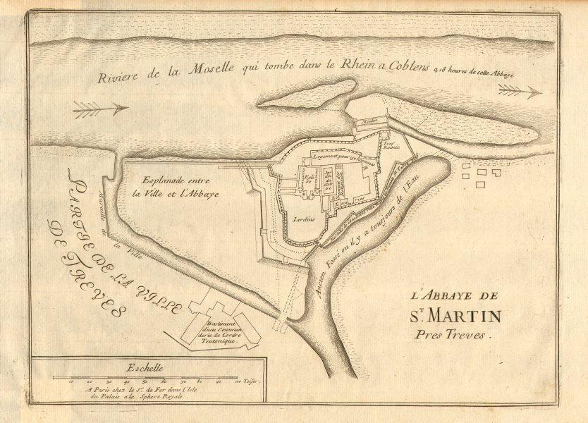 Associate Product 'L'Abbaye de St. Martin'. Abtei St. Martin/Martinskloster Trier. DE FER 1705 map