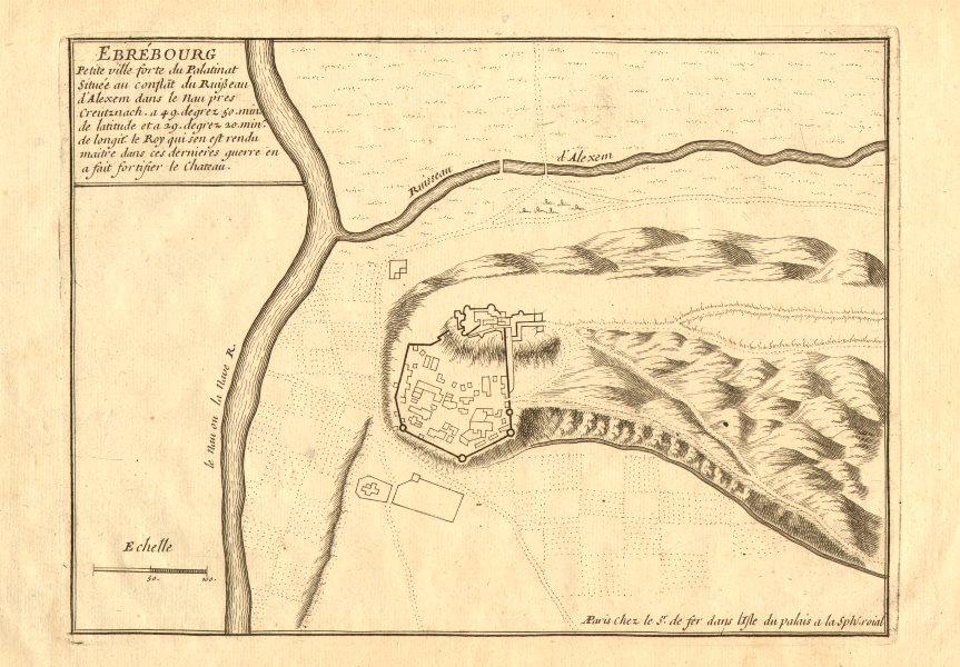 Associate Product 'Ebrébourg'. Burg Ebernburg, Bad Münster am Stein-Ebernburg. DE FER 1705 map