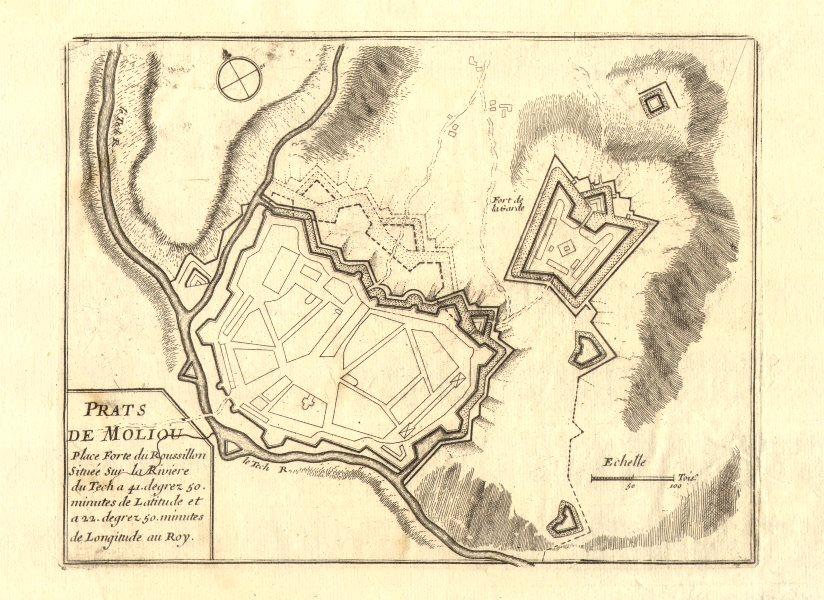 Associate Product 'Prats de Moliou'. Prats-de-Mollo-la-Preste town/city plan. DE FER 1705 map