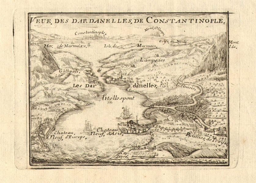 Associate Product 'Veue des Dardanelles de Constantinople'. Istanbul Troy Turkey. DE FER 1705 map