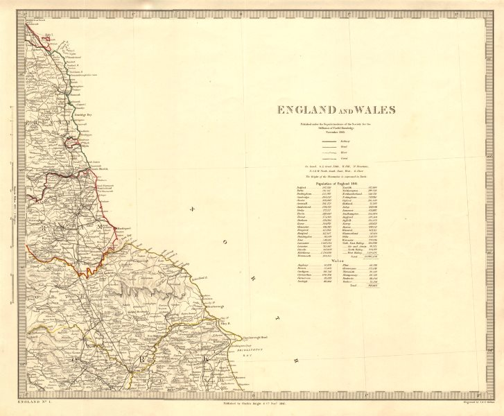 Associate Product NORTH EAST ENGLAND Coast. North York Moors. Yorkshire Durham &c. SDUK 1845 map