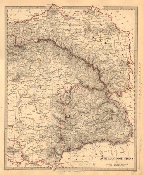 Associate Product AUSTRIAN DOMINIONS. Galizia Eastern Hungary Transylvania Galicia. SDUK 1845 map