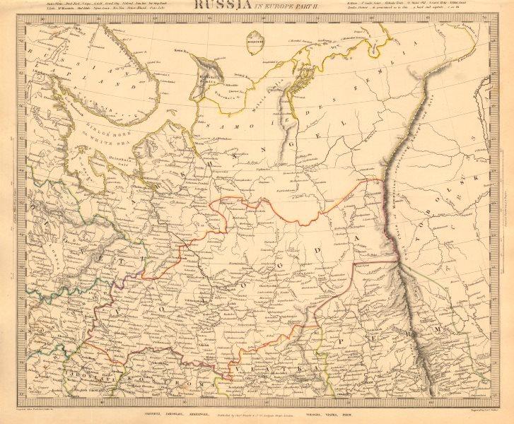 Associate Product RUSSIA. Arkhangelsk Vologda VIatka Perm Olontez Iaroslavl. SDUK 1845 old map