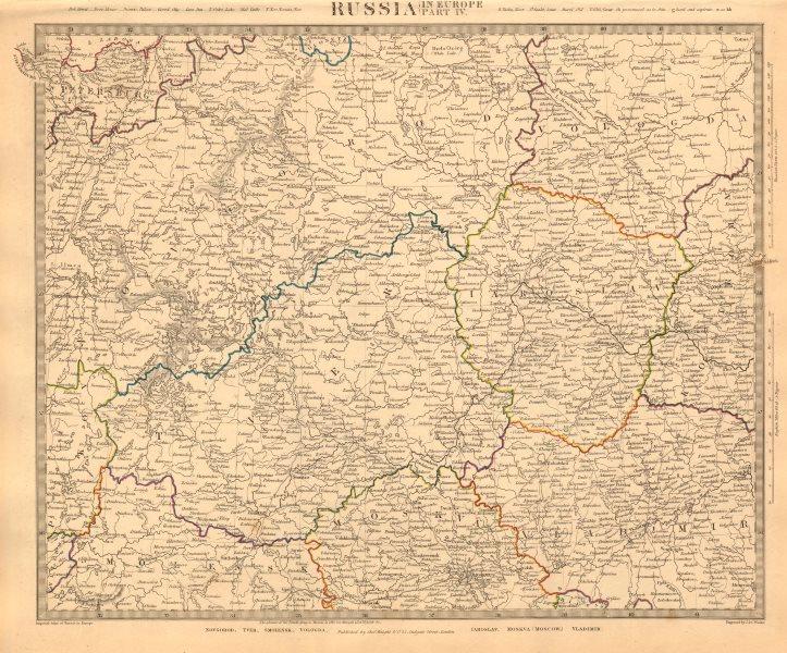 Associate Product RUSSIA. Novgorod Tver Smolensk Vologda Iarolslav Moscow Vladimir. SDUK 1845 map