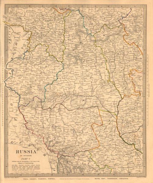 Associate Product EASTERN EUROPE. Vilna Grodno Volhynia Podoiva Minsk Kiev Smolensk. SDUK 1845 map