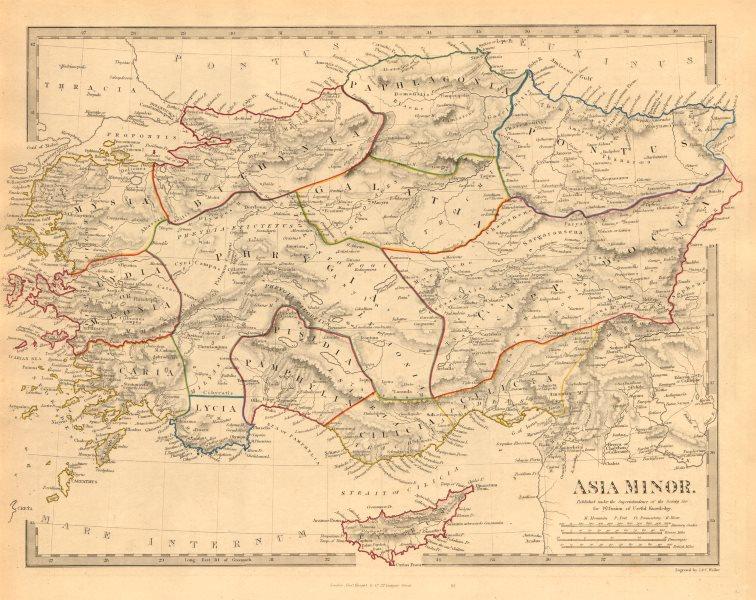 Associate Product ASIA MINOR ANCIENT. Turkey. Cappadocia Cyprus Galatia Phrygia. SDUK 1846 map