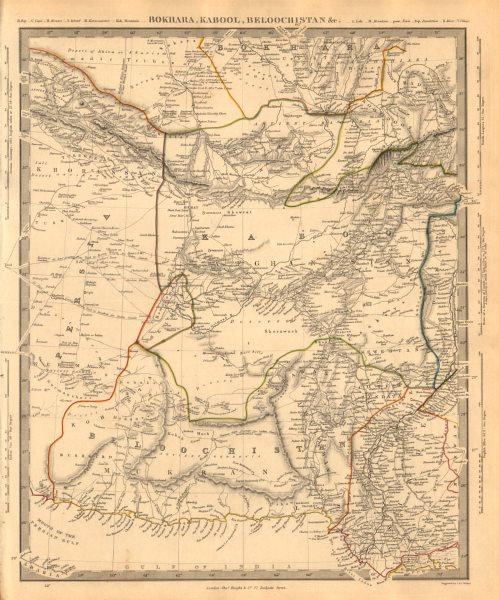 Associate Product BOKHARA KABUL & BALUCHISTAN. Afghanistan Khorassan Sinde Pakistan. SDUK 1846 map