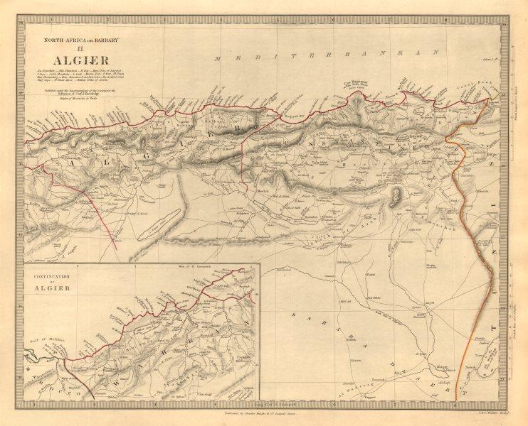 Associate Product NORTH AFRICA OR BARBARY II. ALGIER. Algeria Algiers. SDUK 1846 old antique map